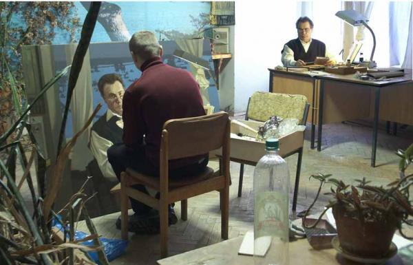 Александр Левченков. 2003 Работа над портретом Антонова В.Д.