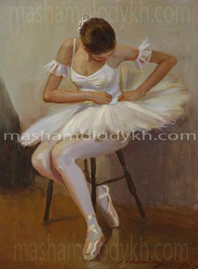 Александр Левченков. 46. Балерина в белом
