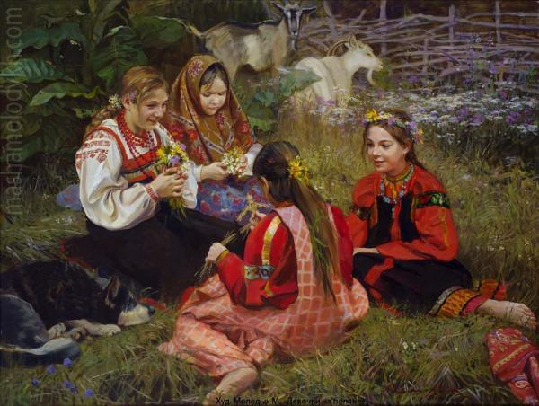 Александр Левченков. Девочки на поляне