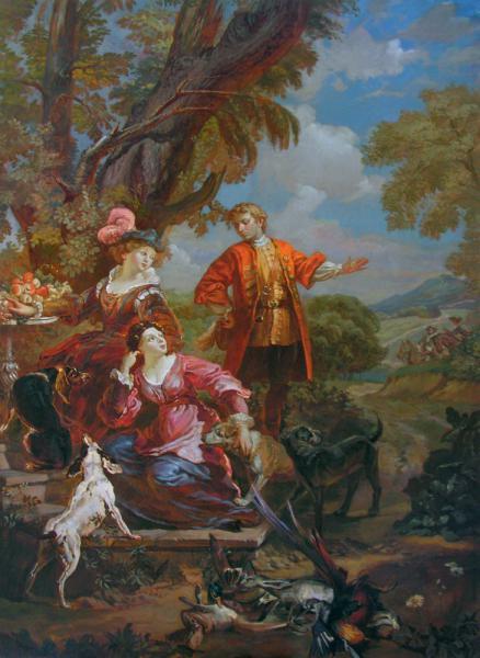 Александр Левченков. Сцена охоты