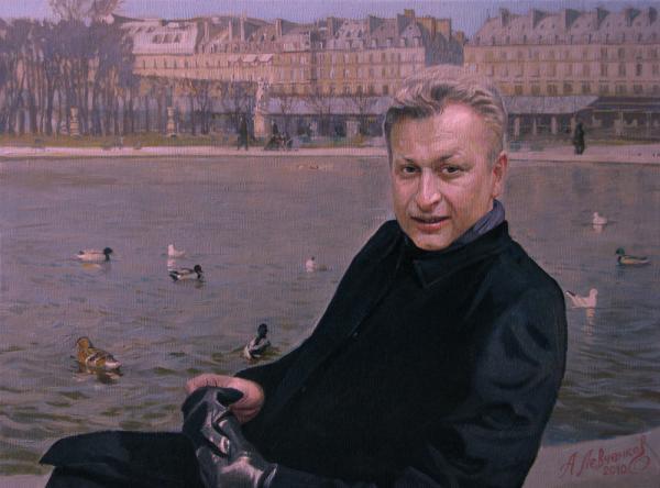 Александр Левченков. Мужской портрет. Париж.