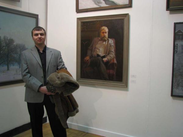 Александр Левченков. На XXI Всероссийской1 выставке в ЦДХ. Январь 2009
