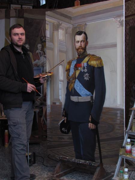 Александр Левченков. работа над портретом императора