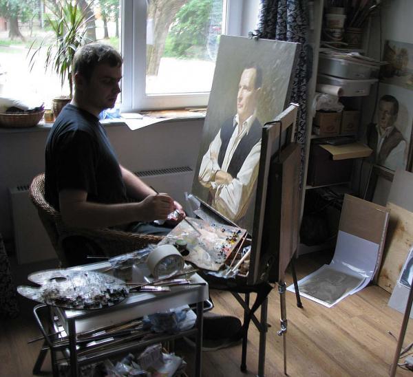 Александр Левченков. работа над портретом