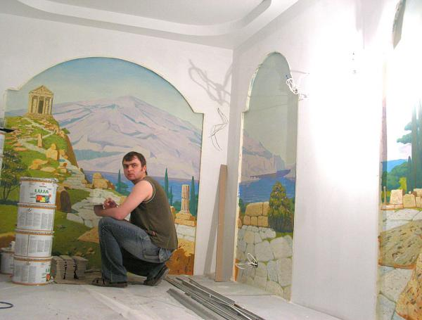Александр Левченков. Роспись с руинами