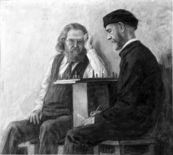 Александр Левченков. шахматисты