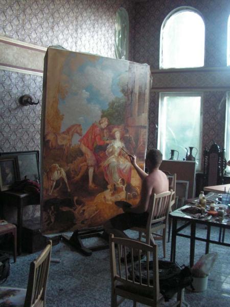 Александр Левченков. Создание охотничьей сценки по мотивам французских художников 18-го века