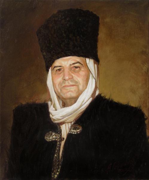 Александр Левченков. Портрет в бурке