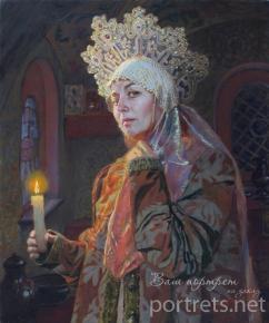 Александр Левченков. Боярышня со свечой
