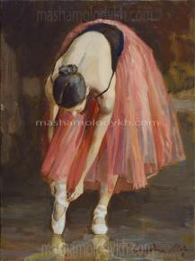 Александр Левченков. 35. Балерина в красной пачке