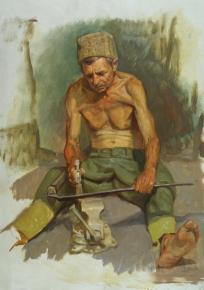 Александр Левченков. Отбивающий косу