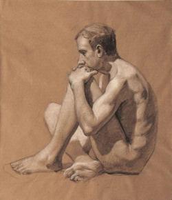 Александр Левченков. Сидящий натурщик