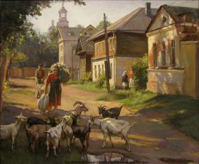 Александр Левченков. Улочка в провинциальном городке